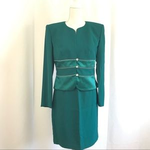 Vintage Nah Nah Collection Skirt Jacket Set Suit